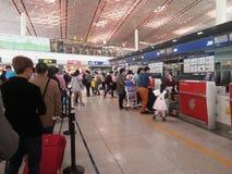 Registrazione dell'aeroporto Immagini Stock