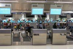 Registrazione dell'aeroporto Immagine Stock