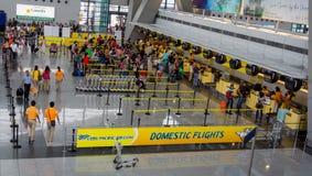 Registrazione dell'aeroporto Immagine Stock Libera da Diritti