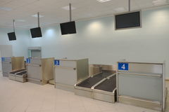 Registrazione dell'aeroporto Fotografie Stock