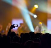 Registrazione di concerto Fotografie Stock