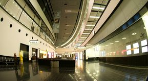 Registrazione nell'aeroporto di Wiena - partenza Immagine Stock Libera da Diritti