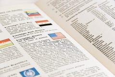 Registre com bandeira americana Imagens de Stock