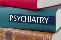 Registre com o psiquiatria do título escrito na espinha imagens de stock royalty free