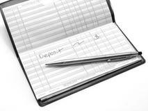 Registre de contrôle - dépôt de garantie Image stock