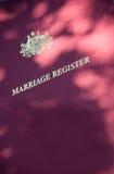 Registre de mariage Photographie stock libre de droits