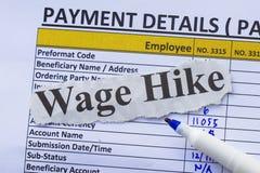 Registre de masse salariale Images stock