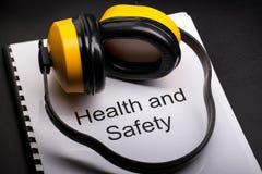 Registre de santés et sécurité Images stock