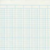 Registre de vintage ou papier de graphique bleu image stock