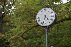 Registre en el parque, un símbolo del tiempo Imagenes de archivo
