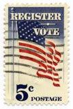 Registre pour voter l'estampille 1964   Images stock