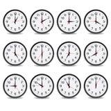 Registre que muestra cada vector de la hora Foto de archivo