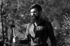 Registreerapparaat met baard royalty-vrije stock fotografie