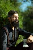 Registreerapparaat met baard stock fotografie