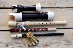 Registreertoestel, Witrussische fluit, zoete Fluit en gouden zak Royalty-vrije Stock Foto