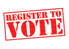 Registrera för att rösta arkivbilder