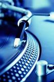 registrerad roterande vinyl för diskett spelare Arkivfoto