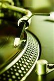 registrerad roterande vinyl för diskett spelare Royaltyfri Fotografi