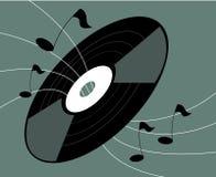 registrerad vinyl för musik anmärkningar Arkivfoto
