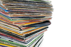 registrerar vinyl Royaltyfri Bild