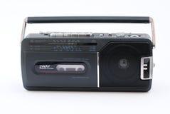 registreringsapparat för bärbar radio för kassett arkivbild