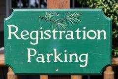 Registreringsparkering Royaltyfria Bilder
