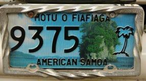 Registreringsskylt American Samoa Royaltyfria Foton