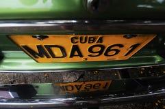 Registreringsskylt av den klassiska gamla amerikanska bilen Royaltyfri Foto