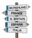 Registreringsskyltar för europeisk union som isoleras på vit bakgrund illustration 3d Royaltyfri Bild