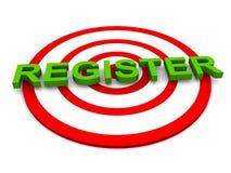 Registrieren lizenzfreie abbildung