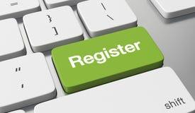 Registrieren Sie online lizenzfreie abbildung