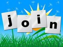 Registrieren Sie sich anschließen Shows sich anmelden und unterzeichnen stock abbildung