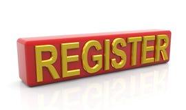 Registro Foto de archivo libre de regalías
