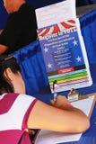 Registro al voto Imagen de archivo libre de regalías