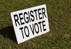 Registro al voto Foto de archivo libre de regalías