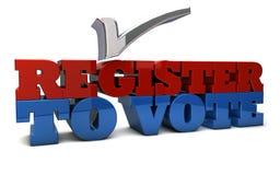 Registro al voto Fotografía de archivo libre de regalías