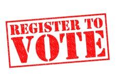 Registro al voto immagini stock