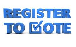 Registro al voto - democracia en los E.E.U.U. Foto de archivo libre de regalías