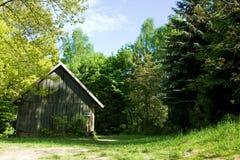 Registro-casa rural en bosque Imagen de archivo