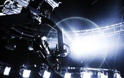 Registro da câmera no guindaste no industria do ócio da fase Fotografia de Stock Royalty Free