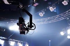 Registro da câmera no guindaste no industria do ócio da fase Imagem de Stock
