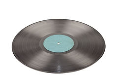 Registro de gramofone no branco Fotos de Stock