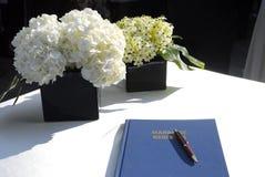 Registro de la boda Foto de archivo libre de regalías