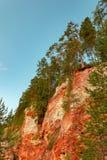 Registro de la cucaracha de la roca del yeso del macizo del karst, región de Arkhangelsk, hermosa vista de la reserva de Pinezhsk imagenes de archivo
