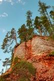 Registro de la cucaracha de la roca del yeso del macizo del karst, región de Arkhangelsk, hermosa vista de la reserva de Pinezhsk fotos de archivo libres de regalías