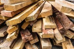 Registro de madera, Bangkok en Tailandia Imagenes de archivo