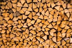Registro de madera empilado Imagen de archivo