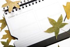 Registro de reunião em outubro imagem de stock