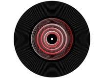 Registro de vinil colorido da música imagens de stock