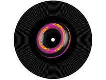 Registro de vinil colorido da música fotos de stock